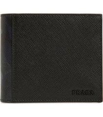 men's prada camo print saffiano leather wallet -