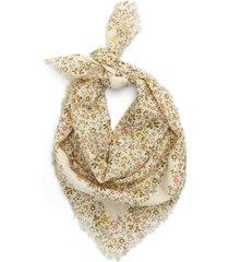 women's madewell shadow petal fringe bandana, size one size - ivory