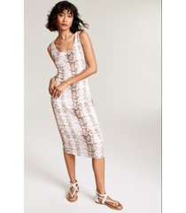 bar iii snake-embossed bodycon midi dress, created for macy's