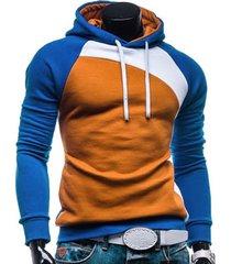 izzumi drawstring paneled raglan sleeve hoodie