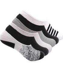 k-swiss women's foot liner no show cotton socks, print, 6 pack