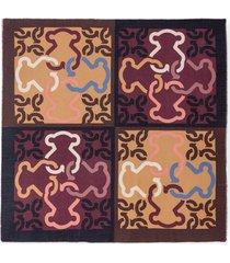 pañuelo mossaic xl marrón-multimarrón