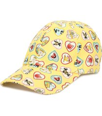 chanel pre-owned valentine baseball cap - yellow