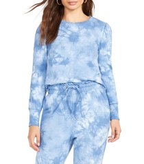 bb dakota by steve madden groove thing sweatshirt, size small in blue at nordstrom