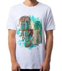 camiseta omg beach beauty masculina - masculino