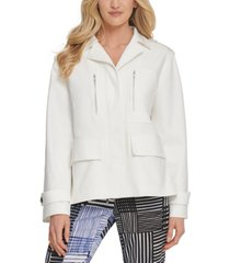 dkny button-front utility jacket