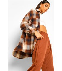 brushed flannel shirt, brown