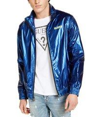 guess men's interstellar nylon track jacket