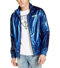 guess men's interstellar nylon track jacket