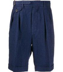 lardini pleated-waist bermuda shorts - blue