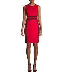 colorblock sleeveless sheath dress