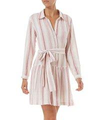 melissa odabash women's amelia striped cotton shirtdress - red white stripe - size xs