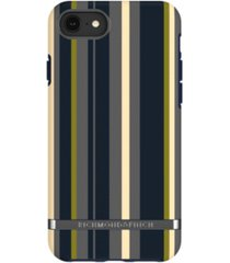 richmond & finch navy stripes case for iphone 6/6s, 7 and 8