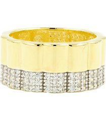 freida rothman radiance wide band ring, size 7 in white/gold at nordstrom