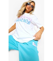 official edition oversized ombre t-shirt, white