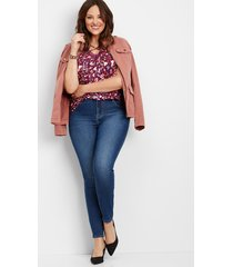 plus size - everflex high rise medium stretch skinny jeans