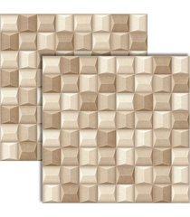 porcelanato cement cubo bege retificado 61x61cm - 61037 - realce - realce