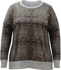 ideology plus size leopard-print sweatshirt, created for macy's