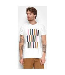 camiseta foxton color block masculina