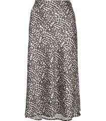 apparis zui high waisted leopard print skirt - green