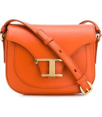 tod's bolsa tiracolo mini - laranja