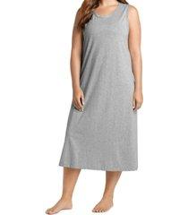 jockey plus size everyday essentials cotton tank sleepdress nightgown