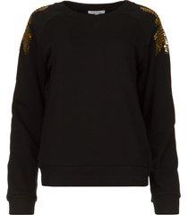 sweater met pailletten yana  zwart