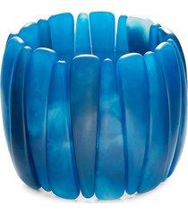 kenneth jay lane women's faux-shell stretch bracelet