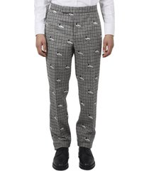 thom brown grey duck trousers