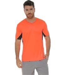 camiseta manga corta color naranja para hombre