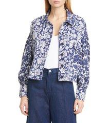 women's ulla johnson griffin floral denim jacket
