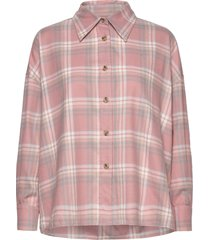 campbell plaids overhemd met lange mouwen roze arnie says