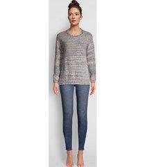 artisanal marled yarn crewneck sweater