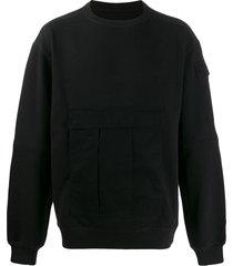 maharishi cargo pocket sweatshirt - black