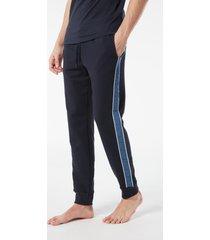pantalone lungo in felpa con banda