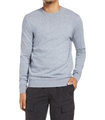men's topman essential twist crewneck sweater, size large - blue