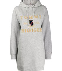 tommy hilfiger hooded sweater dress - grey