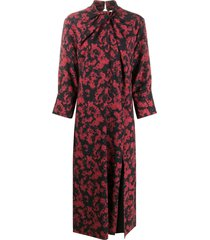 16arlington fujiko twist-neck midi dress - red