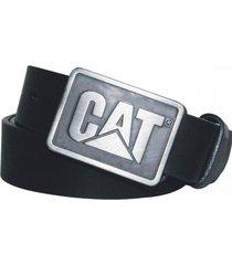 cinturon hombre shields belt negro cat