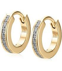 gold skinny huggie diamond earrings diamond