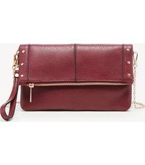 women's claudia clutch vegan leather berry from sole society