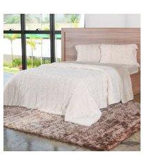 cobertor queen slim peles com porta travesseiro pluma - tessi