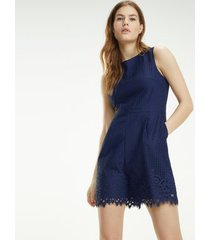 tommy hilfiger women's summer sleeveless romper medieval blue - 12