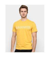 camiseta lacoste logo vazado masculina