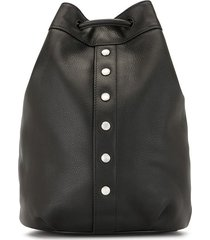 agnès b. studded drawstring backpack - black