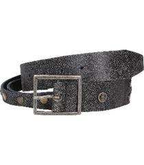 cinturón cuero doble negro
