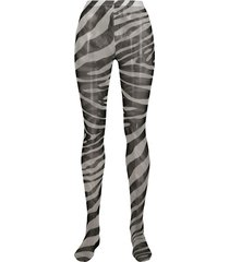 dolce & gabbana zebra print tights - black