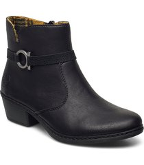 75563-00 shoes boots ankle boots ankle boot - heel svart rieker