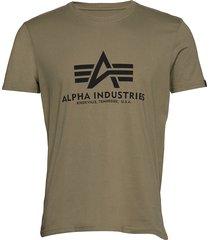 basic t-shirt t-shirts short-sleeved grön alpha industries