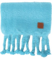45x230 mohair scarf turquoise